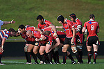 The Steelers forward pack readies for a scrum. Air New Zealand Air NZ Cup warm-up rugby game between the Counties Manukau Steelers & Tasman Mako's, played at Growers Stadium Pukekohe on Sunday July 20th 2008..Counties Manukau won the match 30 - 7.