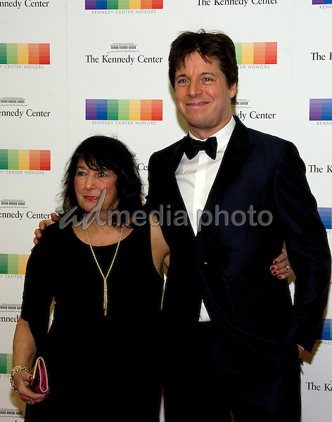 Violinist Joshua Bell and his mother, Shirley, arrive for the formal Artist's Dinner honoring the recipients of the 39th Annual Kennedy Center Honors hosted by United States Secretary of State John F. Kerry at the U.S. Department of State in Washington, D.C. on Saturday, December 3, 2016. The 2016 honorees are: Argentine pianist Martha Argerich; rock band the Eagles; screen and stage actor Al Pacino; gospel and blues singer Mavis Staples; and musician James Taylor. Photo Credit: Ron Sachs/CNP/AdMedia