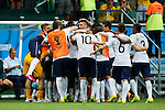 France team group (FRA), JUNE 20, 2014 - Football /Soccer : France team group celebrate a goal during the FIFA World Cup Brazil 2014 Group E match between Switzerland 2-5 France at Arena Fonte Nova, Salvador, Brazil. (Photo by D.Nakashima/AFLO)