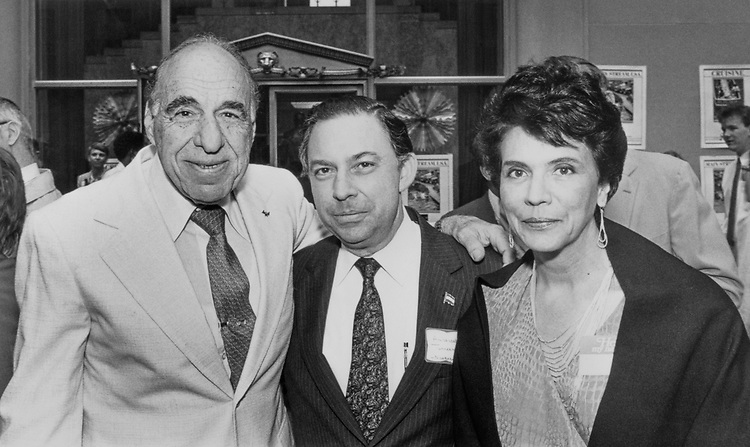 Rep. Henry B. Gonzalez, D-Tex. with Carlos Tunnermann Bernheim and wife Rosa Carlota Pereira Bernheim on May 3, 1988. (Photo by CQ Roll Call)