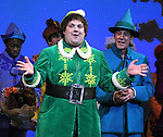 Jordan Gelber & Mark Jacoby during the First Performance Curtain Call of the Broadway Holiday Hit Musical 'Elf'  at the Al Hirschfeld  Theatre in New York City on 11/09/2012