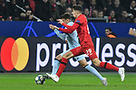 06.11.2019, BayArena, Leverkusen, GER, CL, Bayer 04 Leverkusen vs Atletico Madrid, DFL regulations prohibit any use of photographs as image sequences and/or quasi-video <br /> <br /> im Bild v. li. im Zweikampf Santiago Arias (#4, Atletico Madrid) Kai Havertz (#29, Bayer 04 Leverkusen) <br /> <br /> Foto © nordphoto/Mauelshagen