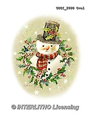 GIORDANO, CHRISTMAS SANTA, SNOWMAN, WEIHNACHTSMÄNNER, SCHNEEMÄNNER, PAPÁ NOEL, MUÑECOS DE NIEVE, paintings+++++,USGI2880OVAL,#X# ,#161#