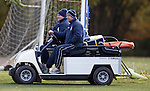 Ian Durrant and Kenny McDowall on the golf buggy