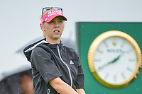 Jessica Korda (USA) watches her tee shot on 10 during Friday's second round of the 72nd U.S. Women's Open Championship, at Trump National Golf Club, Bedminster, New Jersey. 7/14/2017.<br /> Picture: Golffile | Ken Murray<br /> <br /> <br /> All photo usage must carry mandatory copyright credit (&copy; Golffile | Ken Murray)