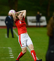 20180228 - LARNACA , CYPRUS : Austrian Katharina Schiechtl pictured during a women's soccer game between Spain and Austria , on wednesday 28 February 2018 at GSZ Stadium in Larnaca , Cyprus . This is the first game in group B for Spain and Austria during the Cyprus Womens Cup , a prestigious women soccer tournament as a preparation on the World Cup 2019 qualification duels. PHOTO SPORTPIX.BE | DAVID CATRY