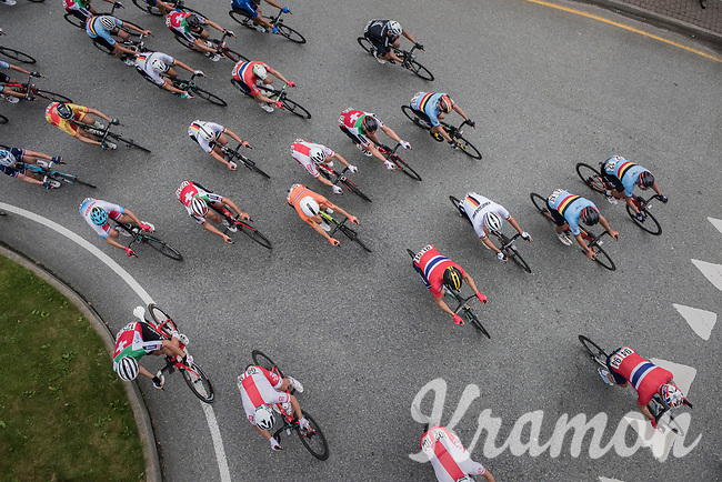 overhead view<br /> <br /> Men Elite Road Race<br /> <br /> UCI 2017 Road World Championships - Bergen/Norway