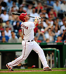 3 July 2009: Washington Nationals' third baseman Ryan Zimmerman at bat against the Atlanta Braves at Nationals Park in Washington, DC. The Braves defeated the Nationals 9-8 to take the first game of the 3-game weekend series. Mandatory Credit: Ed Wolfstein Photo