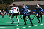 DURHAM, NC - NOVEMBER 11: Duke's Haley Schleicher (10). The Duke University Blue Devils hosted the Miami University (Ohio) Redhawks on November 11, 2017 at Jack Katz Stadium in Durham, NC in an NCAA Division I Field Hockey Tournament First Round game. Duke won the game 4-2.