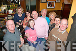 HAPPY BIRTHDAY: Robert O'Mahony Cloghers, Tralee (centre) who celebrated his 50th birthday last Friday night in Jess McCarthy's bar, Castle St, Tralee, pictured here with l-r: James O'Donoghue, Ann Farnan, Claire McEvoy, Maura Carmody, Robert O'Mahony, Micheal Buggy, Joan Carmody-O'Mahony, Jane O'Donoghue and John O'Mahony.