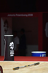 General view, <br /> AUGUST 20, 2018 - Weightlifting : Women's 48kg at JIExpo Kemayoran Hall A during the 2018 Jakarta Palembang Asian Games in Jakarta, Indonesia. <br /> (Photo by MATSUO.K/AFLO SPORT)