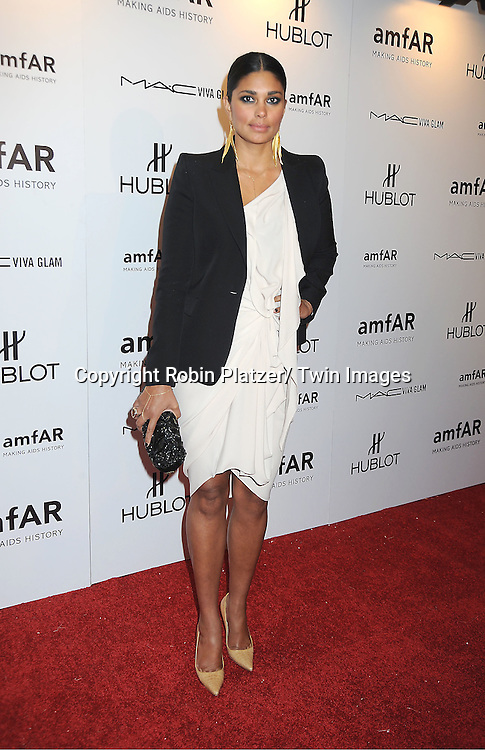 Rachel Roy arrives at the amfAR New York Gala to kick off Fashion Week on February 8, 2012 at Cipriani Wall Street in New York City.