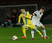 Jose Callejon <br /> <br />  UEFA Europa League round of 32 second  leg match, betweenAC  Napoli  and Swansea City   at San Paolo stadium in Naples, Feburary 27 , 2014