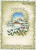 Interlitho, CHRISTMAS SANTA, SNOWMAN, nostalgic, paintings, landscape, birds(KL2458/3,#X#) Weihnachten, nostalgisch, Navidad, nostálgico, illustrations, pinturas