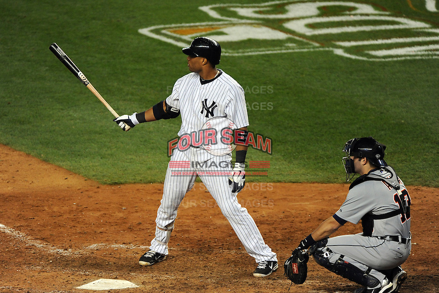 New York Yankees second baseman Robinson Cano #24 during ALDS game #5 against the Detroit Tigers at Yankee Stadium on October 06, 2011 in Bronx, NY.  Detroit defeated New York 3-2 to take the series 3 games to 2 games.  Tomasso DeRosa/Four Seam Images
