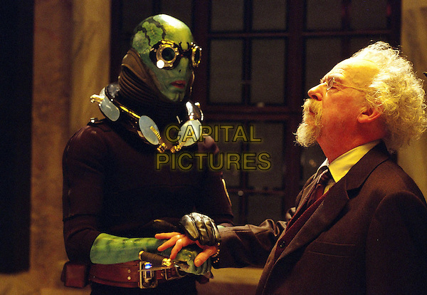 Doug Jones as Abe Sapien <br /> John Hurt Prof. Bruttenholm<br />  Hellboy (2004) <br /> *Filmstill - Editorial Use Only*<br /> CAP/PLF<br /> Supplied by Capital Pictures