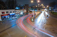 Long exposure image of the Parrs Wood junction of the A34 at Didsbury, Manchester.