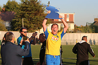 Mark Kirby of Haringey celebrates at the final whistle during Haringey Borough vs Poole Town, Emirates FA Cup Football at Coles Park Stadium on 20th October 2018