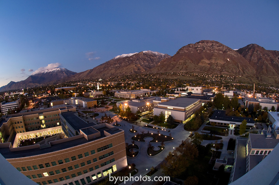 0610.Time lapse of Campus and Y mountain at night from SWKT..October 20, 2006..Photography by Mark A. Philbrick..Copyright BYU Photo 2006 .All Rights Reserved .photo@byu.edu  (801)422-7322