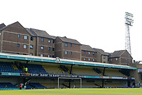 A general view of the Frank Walton stand during the Sky Bet League 1 match between Southend United and MK Dons at Roots Hall, Southend, England on 21 April 2018. Photo by Carlton Myrie.