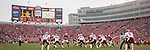 A panoramic view of Camp Randall Stadium during the Wisconsin Badgers NCAA college football game against the Indiana Hoosiers on November 13, 2010 at Camp Randall Stadium in Madison, Wisconsin. The Badgers won 83-20. (Photo by David Stluka)