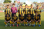 Players of Malaysia Team line up and pose for a photo prior to their AFF Suzuki Cup 2008 Group B match between Thailand and Malaysia at Surakul Stadium on 10 December 2008, in Phuket, Thailand. Photo by Stringer / Lagardere Sports