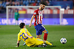 Atletico de Madrid´s Carrasco during Champions League soccer match between Atletico de Madrid and FC Astana at Vicente Calderon stadium in Madrid, Spain. October 21, 2015. (ALTERPHOTOS/Victor Blanco)
