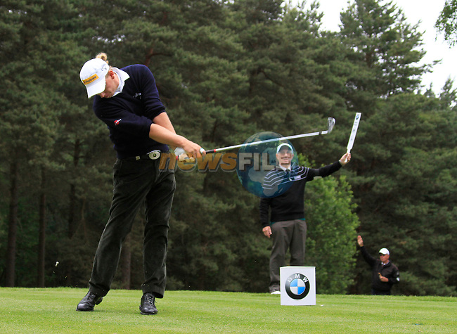 Marcel Siem (GER) tees of on the 8th tee during Day 3 of the BMW PGA Championship Championship at, Wentworth Club, Surrey, England, 28th May 2011. (Photo Eoin Clarke/Golffile 2011)