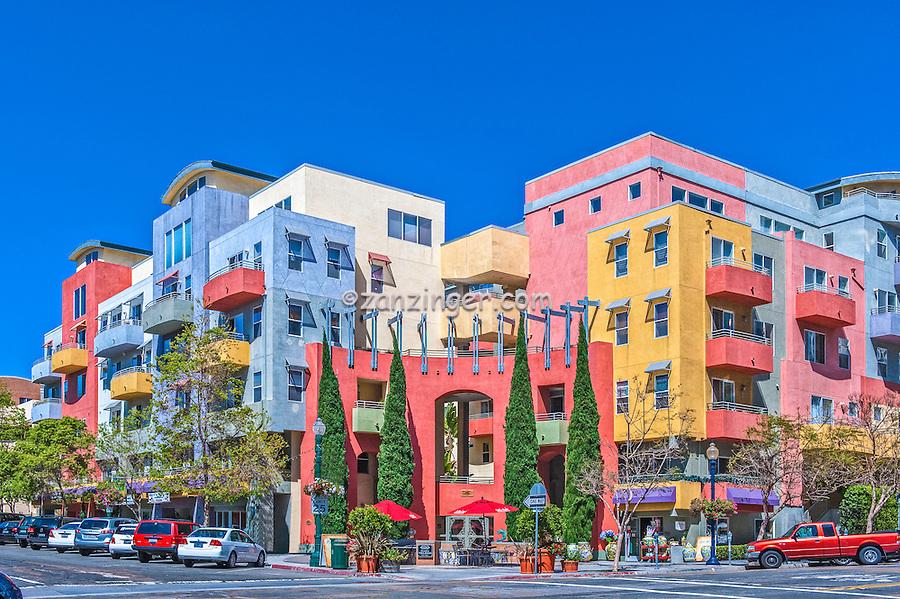 Little Italy San Diego CA Skyline, Balboa Park. Downtown, Buildings, Southern California,