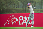Klara Spilkova of Czech Republic tees off at the 12th hole during Round 3 of the World Ladies Championship 2016 on 12 March 2016 at Mission Hills Olazabal Golf Course in Dongguan, China. Photo by Victor Fraile / Power Sport Images