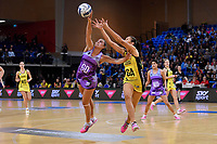 Pulse&rsquo; Ameliaranne Ekenasio and Stars&rsquo; Holly Fowler in action during the ANZ Premiership - Pulse v Northern Stars at Te Rauparaha Arena, Porirua, New Zealand on Monday 25 June 2018.<br /> Photo by Masanori Udagawa. <br /> www.photowellington.photoshelter.com
