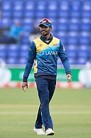 Dhananjaya de Silva (Sri Lanka) during Afghanistan vs Sri Lanka, ICC World Cup Cricket at Sophia Gardens Cardiff on 4th June 2019