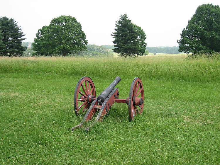 Valley Forge National Historical Park.  Historic cannon..Philadelphia, Pennsylvania, PA USA.  Photo copyright Lee Foster, 510-549-2202, lee@fostertravel.com, www.fostertravel.com.  Photo 374-50010