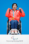 Momoka Muraoka (JPN), MARCH 15, 2018 - Alpine Skiing : <br /> Women's Giant Slalom Sitting Medal Ceremony<br /> at PyeongChang Medals Plaza<br /> during the PyeongChang 2018 Paralympics Winter Games in Pyeongchang, South Korea. <br /> (Photo by Yusuke Nakanishi/AFLO SPORT)