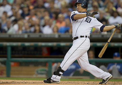 August 30, 2011:  Detroit Tigers right fielder Magglio Ordonez (#30) at bat during MLB game action between the Kansas City Royals and the Detroit Tigers at Comerica Park in Detroit, Michigan.  The Tigers defeated the Royals 2-1.