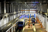 Chengdu underground Line 1 in Chengdu, China.Construction of the 18·5 km line began on December 28 2005 and cost around 8bn yuan. The route runs from Shenxian Lake in the north of Chengdu to Century City, via South Railway Station, and has 16 stations.Chengdu is planning to build a 298 km network with seven lines by 2020, with a total a capacity of 300 million passengers a year..12 Mar 2011