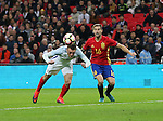 England's Jamie Vardy scoring his sides second goal during the friendly match at Wembley Stadium, London. Picture date November 15th, 2016 Pic David Klein/Sportimage