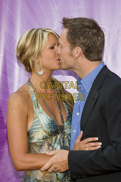 25 July 2005 - Los Angeles, California - Nancy O'Dell and husband Keith Zubchevich.  2005 NBC Network All Star Celebration Arrivals held at the Century Club.  Photo Credit: Zach Lipp/AdMedia