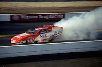 Feb. 3, 2000; Pomona, CA, USA; NHRA funny car driver Gary Densham during qualifying for the Winter Nationals at the Pomona Raceway. Mandatory Credit: Mark J. Rebilas-