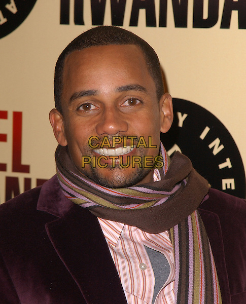 "HILL HARPER.Los Angeles Premiere of ""Hotel Rwanda"" held at The Academy Theatre in Beverly Hills, California.December 2nd, 2004.headshot, portrait, goatee, facial hair, striped scarf.www.capitalpictures.com.sales@capitalpictures.com.Supplied by Capital Pictures."