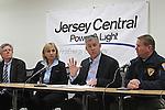 Jersey Central Power & Light President James V. Fakult briefs the media on Winter Storm Jonas preparations in Red Bank, New Jersey on Friday morning January 22, 2016.