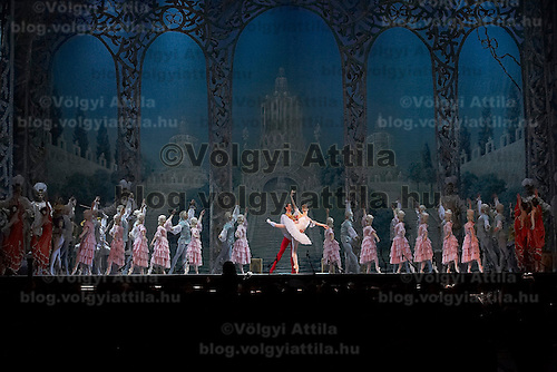 Guest stars Marianna Ryzhkina and Andrei Yevdokimov, solists from the Russian Bolsoj dance main roles in The Nutcracker during the christmas holiday performance of the Hungarian National Ballet Company in in Budapest, Hungary on December 22, 2006. ATTILA VOLGYI