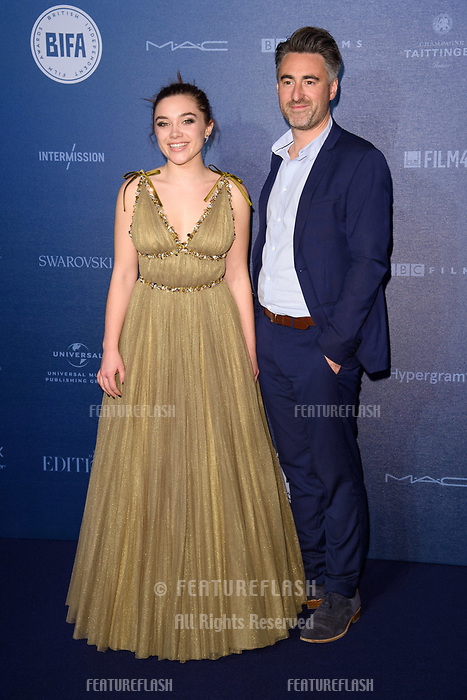 Florence Pugh &amp; William Oldroyd at the British Independent Film Awards 2017 at Old Billingsgate, London, UK. <br /> 10 December  2017<br /> Picture: Steve Vas/Featureflash/SilverHub 0208 004 5359 sales@silverhubmedia.com