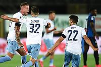 24th June 2020, Bergamo, Italy; Seria A football league, Atalanta versus Lazio;  Sergej Milinkovic Savic of lazio celebrates his goal