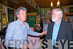 Famous Faces : Billy Keane introduces John Sheehan of the Dubliners to the audience at John B Keane's Bar, Listowel during the Famous face music session on Sunday afternoon last as part of the Writers Week festival.