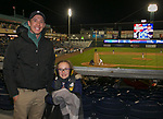 Creig and 7-year-old Aveany during the 2019 opening day game between the Reno Aces and the Albuquerque Isotopes at Greater Nevada Field in Reno, Nevada on Tuesday, April 9, 2019.