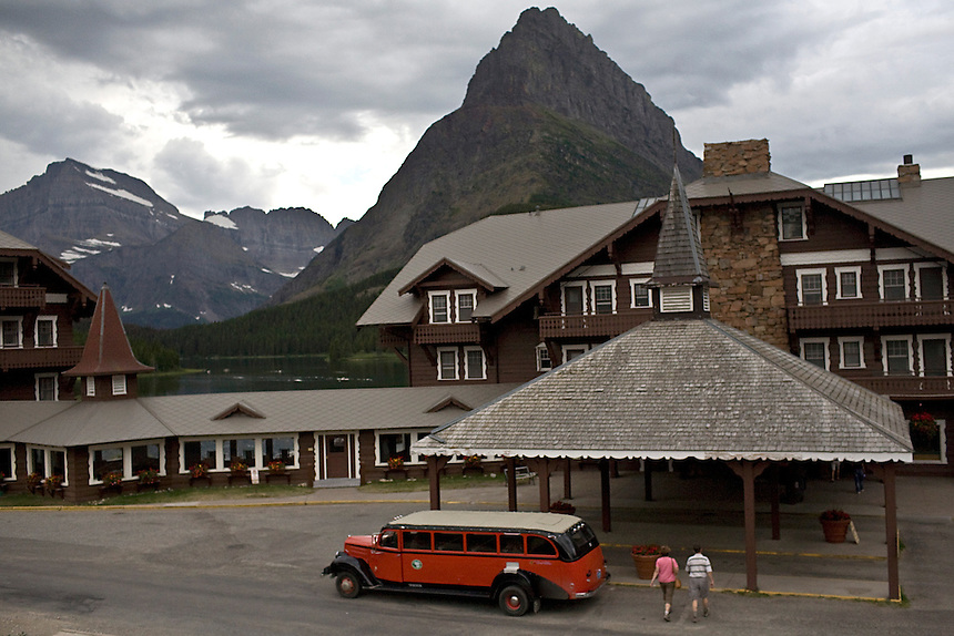 Exterior of Many Glacier Hotel in Glacier National Park, Montana, August 26, 2011. The hotel opened to the public on July 4, 1915, was declared a National Historic Landmark and listed on the National Register of Historic Places on September 29, 1976..REUTERS/Matt Mills McKnight (UNITED STATES)