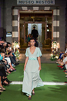 Model Michelle Rodriguez poses. <br /> Aurelia Gil Show During the Gran Canaria Bridal Fashion Week at Nestor Museum in Gran Canaria, Canary Island on October 8, 2017.