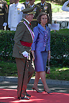 Spanish Royals King Juan Carlos of Spain and Queen Sofia of Spain attend 2014 Spain Armed Forces Day in Madrid, Spain. June 08, 2013. (ALTERPHOTOS/Victor Blanco)
