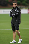 16 May 2008: Carolina assistant coach Stephen Chaconas. The Atlanta Silverbacks Women defeated the Carolina Railhawks Women 5-0 at WakeMed Stadium in Cary, NC in a 2008 United Soccer League W-League regular season game.